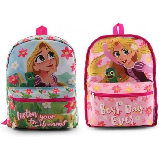 MOCHILA de Rapuncel reversible princesa rapunzel para colegio rosa 40 cm