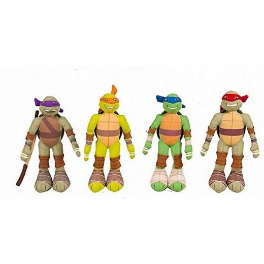 Colección de 4 Peluches de las Tortugas Ninjas 30 cm pack dibujos turtle ninja