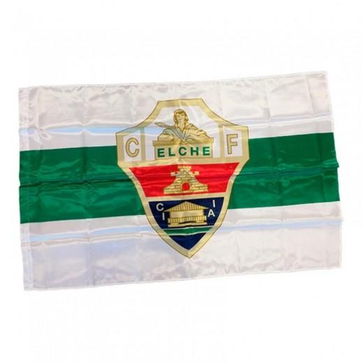 Bandera del Elche club de futbol Grande de Alicante Verde blanca y Escudo 150 cm