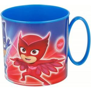 Taza para microondas de Pj Masks Azul con asa infantil 265 ml