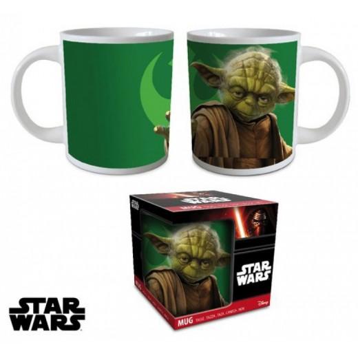 Taza de Star Wars Maestro Yoda de cerámica en caja Joda Verde con Asa