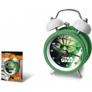 DESPERTADOR Yoda Star Wars Verde de metal con campana 16 cm