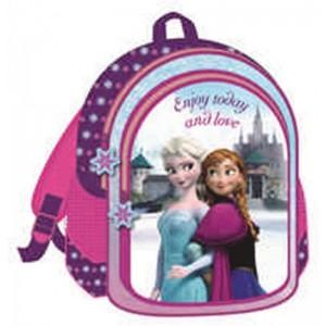 Mochila de Frozen Elsa y Anna grande morada 42 cm de película colegio primaria