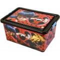 Caja contenedor con tapa de Ladybug de 23L