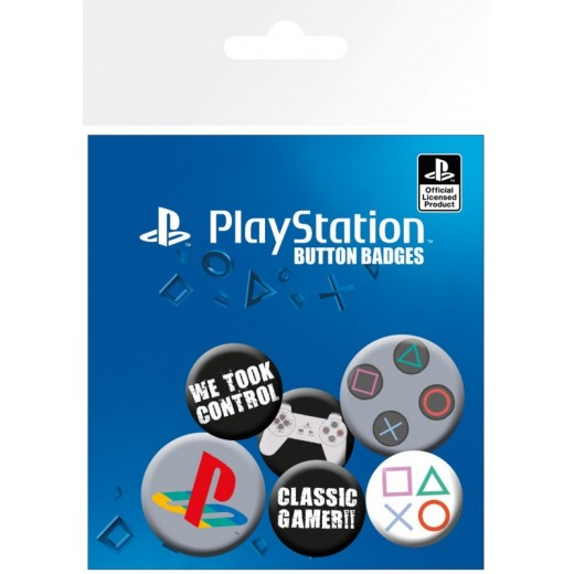 Pack de CHAPAS PLAYSTATION CLASSIC 5 chapas play station ps1 mando