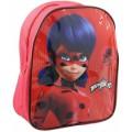 Mini mochila de ladybug 25 cm para guardería excursión almuerzo roja