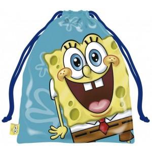 Bolsa saco de bob esponja pequeña de merienda y almuerzo colegio guardería 25 cm