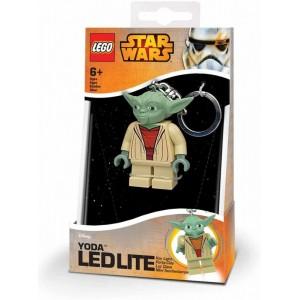LLavero de Lego de yoda Star wars con mini linerna led Joda Jedi Starwars