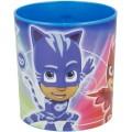 Taza de Pj Masks Microondas 350 ml Azul Dibujos PjMasks gatos