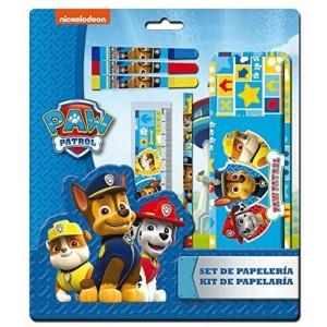 Set de papeleria de la patrulla canina Azul estuche lapiz regla y rotuladores