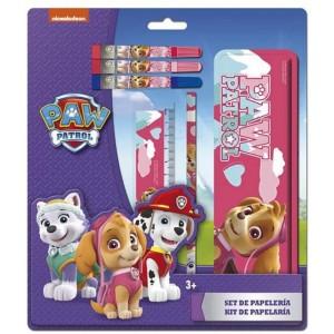 Set de papeleria de la patrulla canina Skye Rosa estuche lapiz regla y rotulador