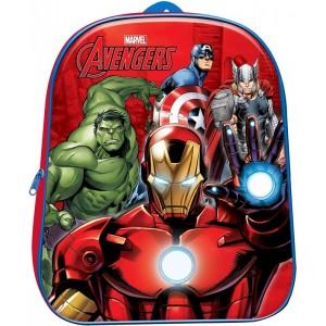 Mochila 3D de Vengadores pequeña 29 cm dibujos guarderia excursion Avengers