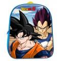 Mochila 3D de Dragon Ball Goku Vegeta pequeña 29 cm dibujos guarderia excursion