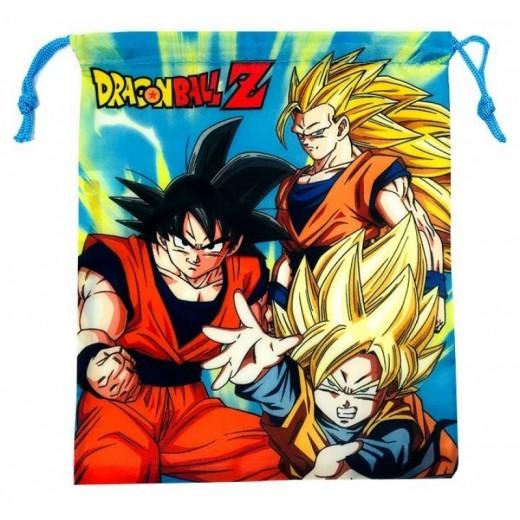 Bolsa saco de Dragon Ball pequeña de merienda y almuerzo colegio guardería 26 cm