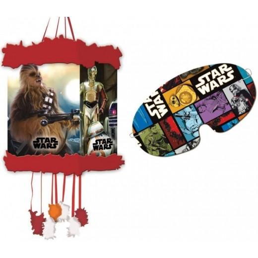 Piñata con antifaz de Star Wars para cumpleaños 20X30 cm cumpleaños