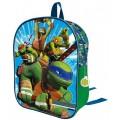 Mochila 3D de las tortugas ninja pequeña 32 cm verde y azul dibujos