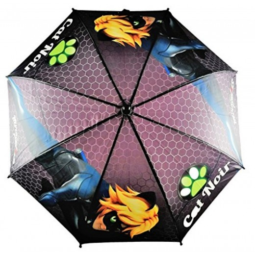 Paraguas de ladybug Negro de Cat Noir chico