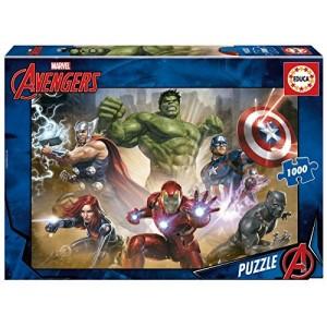 Puzzle de los vengadores 1000 piezas Marvel Hulk Iron Man thor