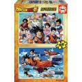 Puzzle Dragon ball Z de 200 piezas Son Goku 2 puzzles de 100 piezas
