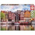 Puzzle Casas Danzantes en Amsterdam a olor de 1000 piezas canales rias