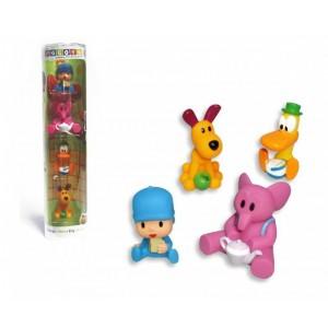 4 Figuras coleccionables de Pocoyo Pato Elly y Loula