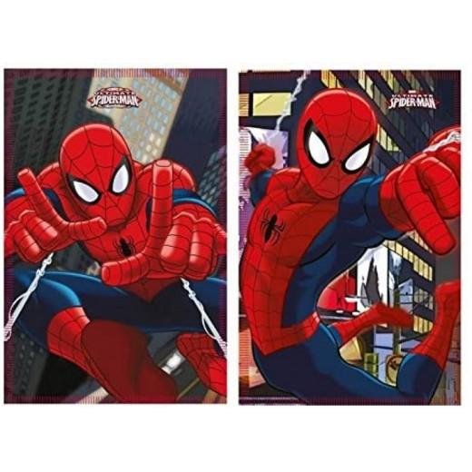 manta polar de Spiderman Azul calentita y suave dibujos 150x100cm