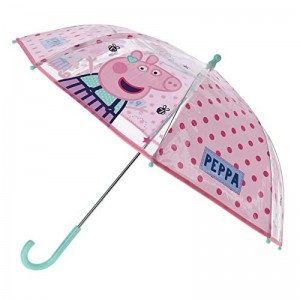 Paraguas transparente de Peppa Pig Grande