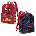 MOCHILA de Spiderman reversible para colegio Azul y Roja 40cm