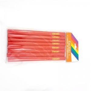 8 Lapices de carpintero Forcel lapiz de carpintero rojo plano