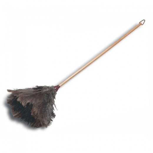 Plumero de plumas de avestruz pequeño palo de madera limpiar