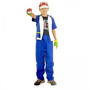 Disfraz de entrenador Pokemon traje de entrenador pokemons con gorra y pokeball