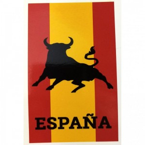 Toalla de España bandera de España con Toro poliester 140 x 70 cm secado rapido