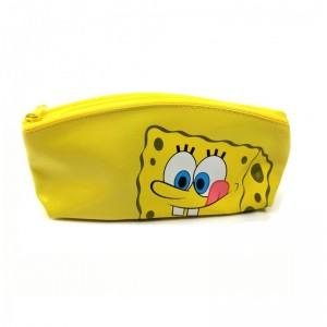 Estuche portatodo de Bob esponja amarillo con cremallera para colegio lapices