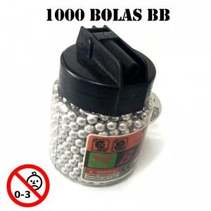 bote de Bolas para airsoft municion biberon 1000 bolas bb pellets balines bolsa