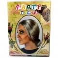 Peluca de anciana con moño gris pelo de mujer mayor recogido abuela Disfraz