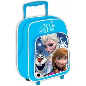 Mochila Frozen Elsa Azul pequeña con carro guardería preescolar 34cm