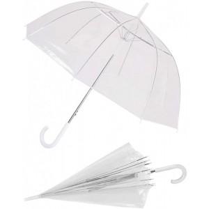 Paraguas transparente grande para adulto con mango automático 61cm