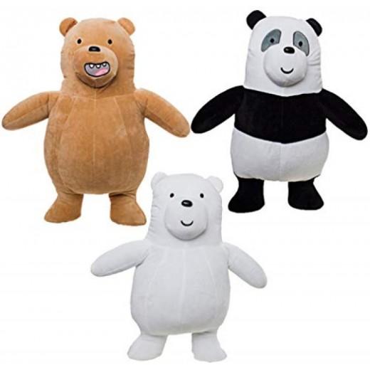 3 peluches de Somos osos 20 cm muy suaves 3 personajes dibujos animados