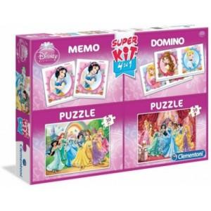 Super Kit Princesas Disney 2 puzzles dominio y juego de memoria 4 juegos