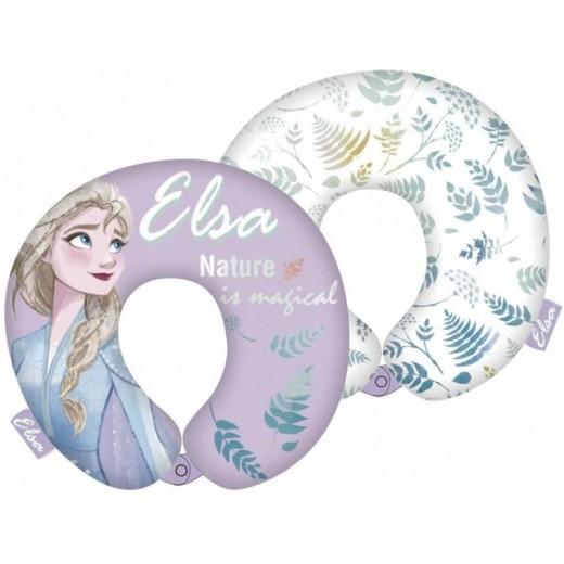 Cojin para cuello de Frozen viaje avión coche suave infantil Elsa 28cm niña