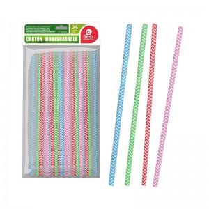 Pajitas de cartón biodegradable cañas de carton degradables cumpleaños reciclar