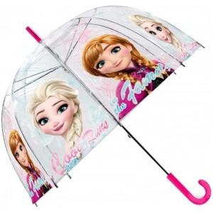 Paraguas de Frozen infantil transparente Elsa y Anna 48 cm
