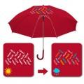 Paraguas Magico cambio de color adulto Rojo burdeos automático 58 cm