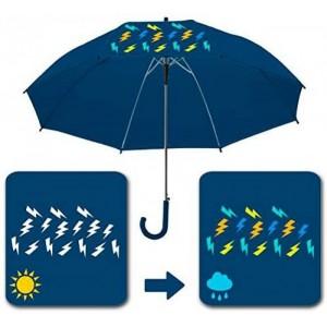 Paraguas Magico cambio de color adulto Azul oscuro automático 58 cm