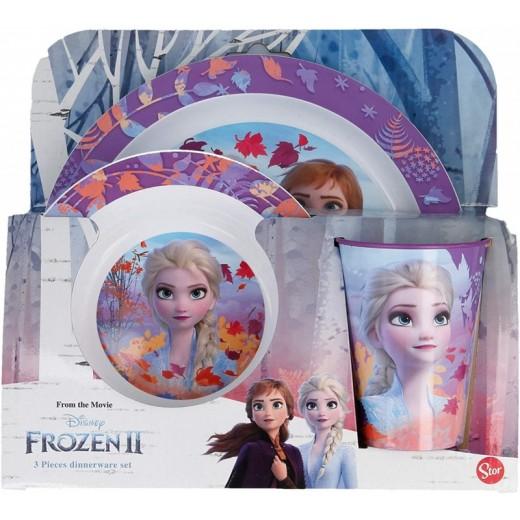 Vajilla de Frozen Elsa vaso plato y cuenco infantil para microondas Anna Olaf