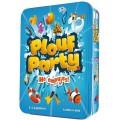 Juego de mesa plouf party divertido rápido en caja metálica no empujes