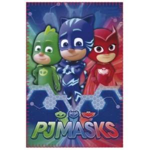 Manta polar de PjMasks Azul Pj Masks calentita y suave 120x140 cm cama sofa