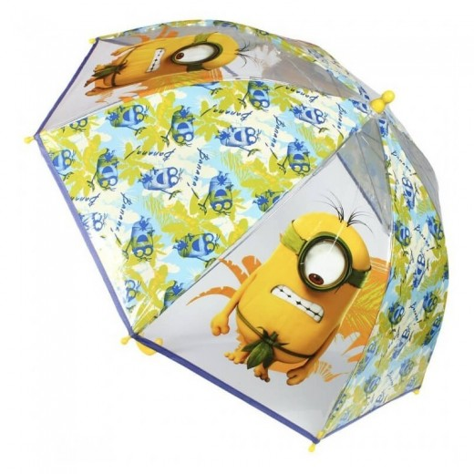 Paraguas de Minions infantil campana 46cm con dibujos amarillos 45cm Gru
