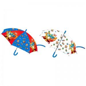 Paraguas de Super Zings transparente o azul 46cm superzings resistente infantil