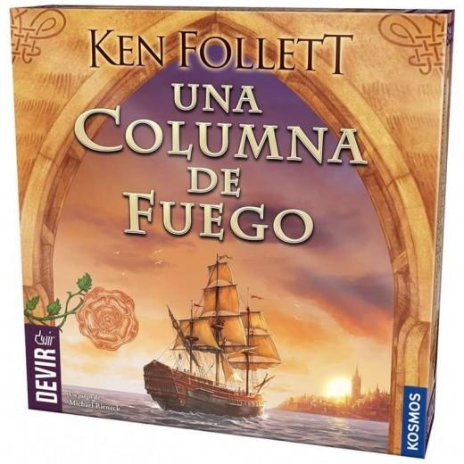 Juego de mesa Una Columna de Fuego del libro de ken follett